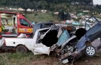 Três pessoas morrem em acidente de trânsito na BR-282, em Ponte Serrada