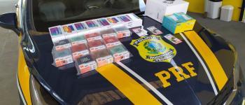 PRF apreende 18 mil reais em mercadorias vindas do Paraguai na região da divisa de Mafra/SC e Rio Negro/PR, na BR 116