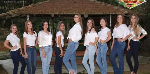 Nove garotas disputam o título de rainha da 3ª Agrofest Papanduva