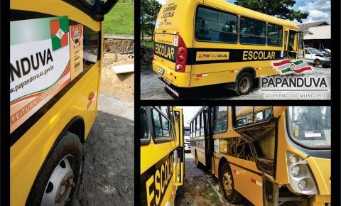 Transporte escolar passa por revisão antes da volta às aulas em Papanduva