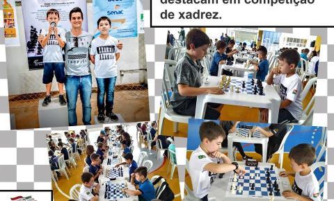 Alunos do município se destacam em competição de xadrez.