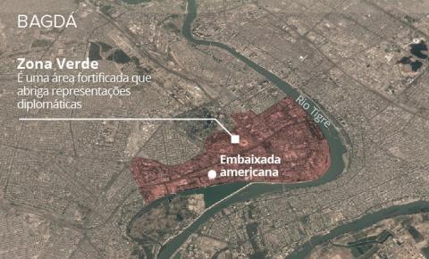 Dois foguetes caem perto da embaixada dos EUA no Iraque
