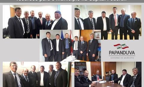 Em busca de recursos, representantes do Governo do Município visitam gabinetes em Brasília