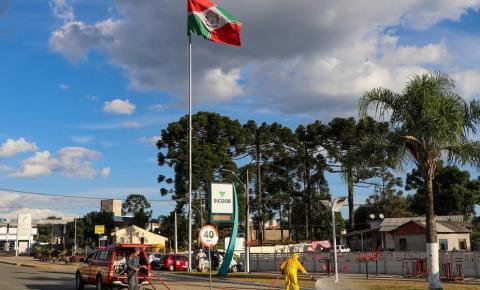 Papanduva realiza desinfecção de espaços públicos