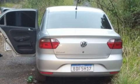 Um dos veículos do assalto em Três Barras e localizado em São Mateus do Sul