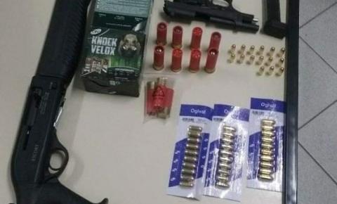 PM de Itaiópolis apreende duas armas