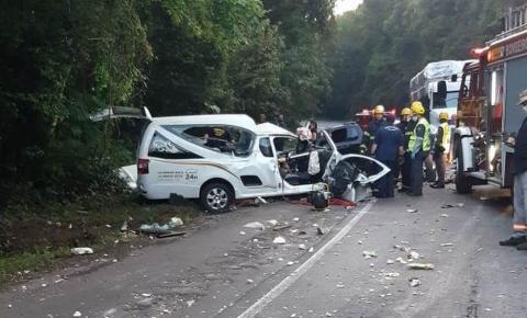 Motorista de carro funerário morre em acidente em rodovia de SC