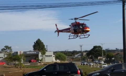 Paciente em estado grave com COVID-19 é transferido de helicóptero de Papanduva para Gaspar SC