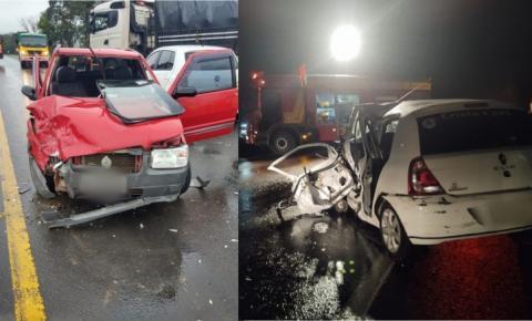 Dois acidentes são registrados neste sábado na BR-116, em Papanduva