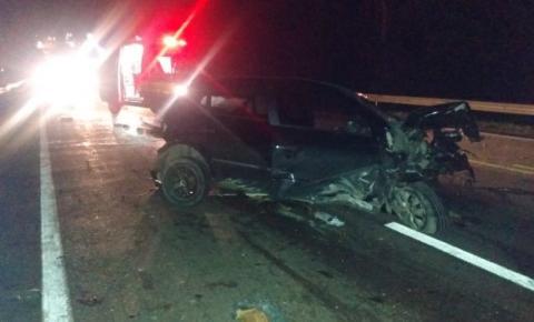 Carro com placas de Papanduva se envolve em acidente na BR-116, em Monte Castelo SC