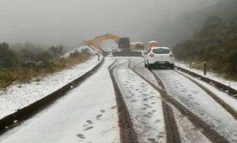 Defesa Civil de SC alerta para declínio acentuado de temperatura e risco de neve
